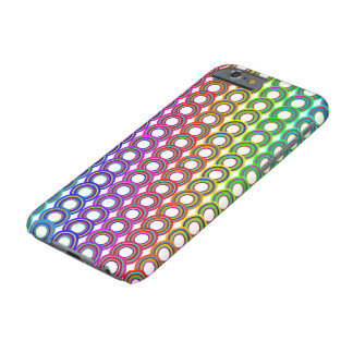 Colorful retro circles barely there iPhone 6 case