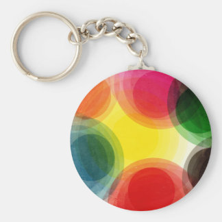 Colorful Retro Circles Keychains