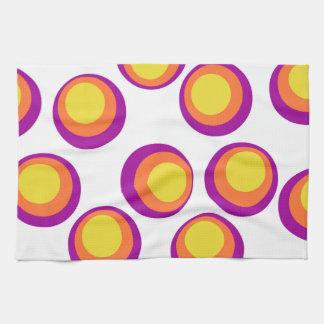 colorful retro circles kithen towel