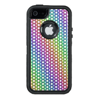 Colorful retro circles OtterBox defender iPhone case