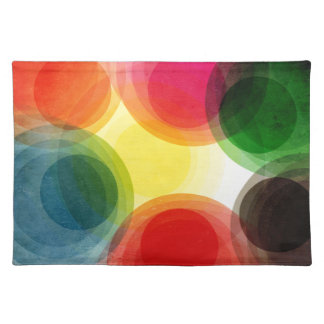 Colorful Retro Circles Placemat
