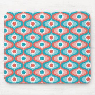 Colorful retro circular pattern mouse pad