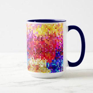 Colorful Retro Disco-Ball Mirrors Pattern Mug