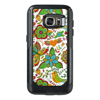 Colorful Retro Floral Collage Pattern G7 OtterBox Samsung Galaxy S7 Case