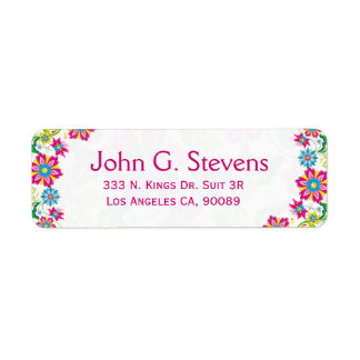 Colorful Retro Floral Frame