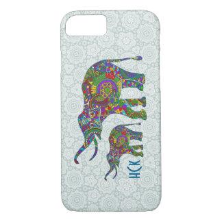 Colorful Retro Flower Elephant 4 iPhone 7 Case