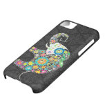 Colorful Retro Flower Elephant Design Cover For iPhone 5C