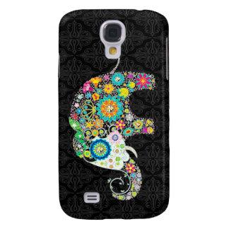 Colorful Retro Flower Elephant Design Galaxy S4 Case