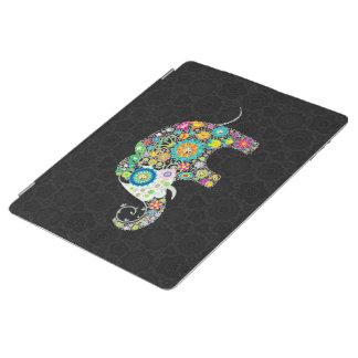 Colorful Retro Flower Elephant Design iPad Cover