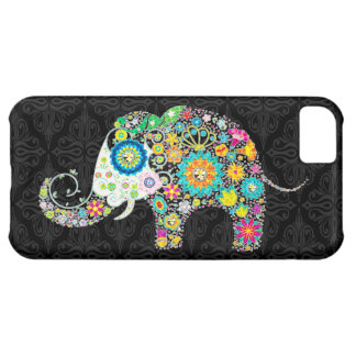 Colorful Retro Flower Elephant Design iPhone 5C Case