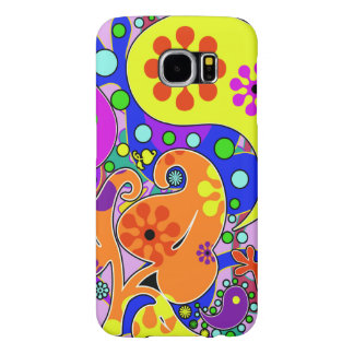 Colorful Retro Flower Paisley Psychedelic Samsung Galaxy S6 Cases