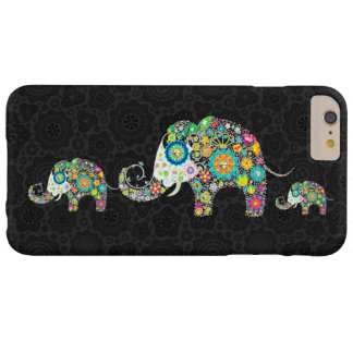 Colorful Retro Flowers Elephant Family Barely There iPhone 6 Plus Case