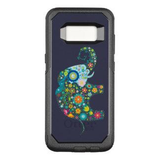 Colorful Retro Flowers Elephant Illustration OtterBox Commuter Samsung Galaxy S8 Case