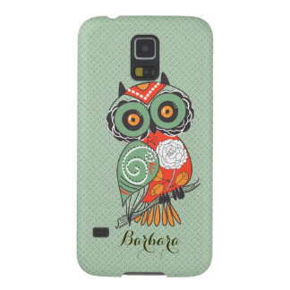 Colorful Retro Flowers Owl Galaxy S5 Covers