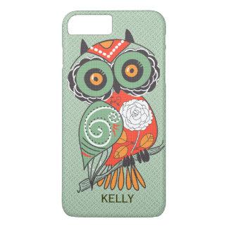 Colorful Retro Flowers Owl iPhone 8 Plus/7 Plus Case