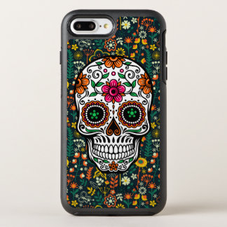 Colorful Retro Flowers & Sugar Skull Illustration OtterBox Symmetry iPhone 8 Plus/7 Plus Case