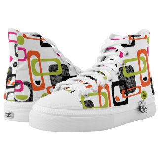 Colorful Retro Geometric High Tops