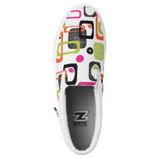 Colorful Retro Geometric Slip-On Shoes