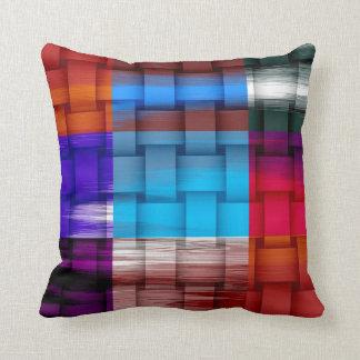 Colorful retro graphic design cushions