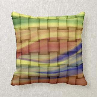Colorful retro graphic design throw cushion