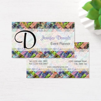 Colorful Retro Modern Abstract Weave Pattern Business Card