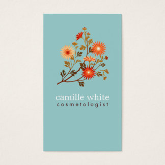 Colorful Retro Orange and Red Floral
