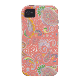 Colorful Retro Paisley iPhone 4 Covers