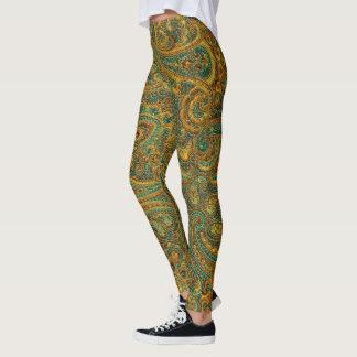 Colorful Retro Paisley Pattern Leggings