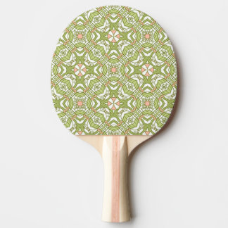 Colorful retro pattern background 2 ping pong paddle
