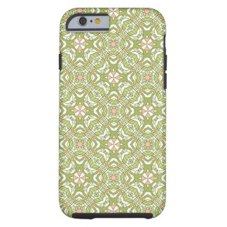 Colorful retro pattern background 2 tough iPhone 6 case