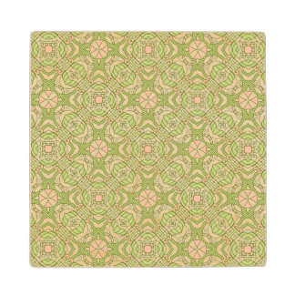 Colorful retro pattern background 2 wood coaster