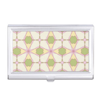 Colorful retro pattern background 3 business card holder