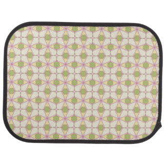 Colorful retro pattern background 3 car mat