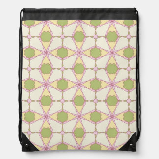 Colorful retro pattern background 3 drawstring bag