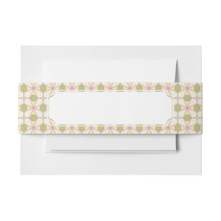 Colorful retro pattern background 3 invitation belly band