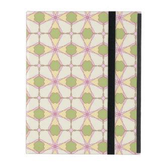 Colorful retro pattern background 3 iPad case