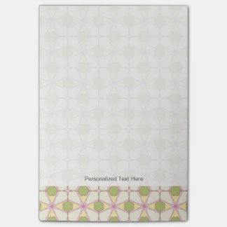 Colorful retro pattern background 3 post-it notes