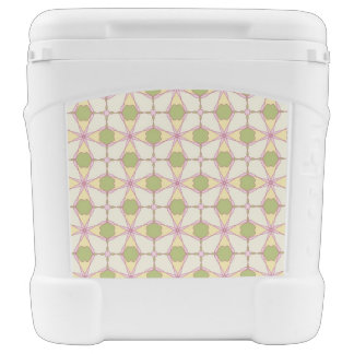 Colorful retro pattern background 3 rolling cooler