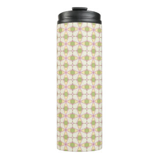 Colorful retro pattern background 3 thermal tumbler