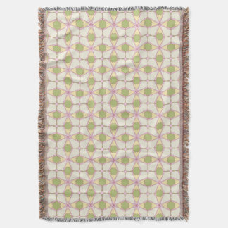 Colorful retro pattern background 3 throw blanket