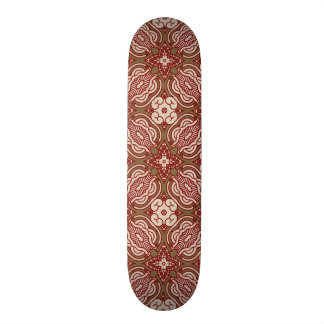 Colorful retro pattern background 4 21.6 cm old school skateboard deck