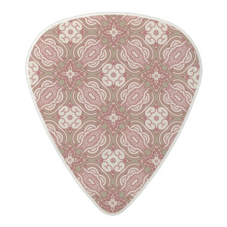 Colorful retro pattern background 4 acetal guitar pick