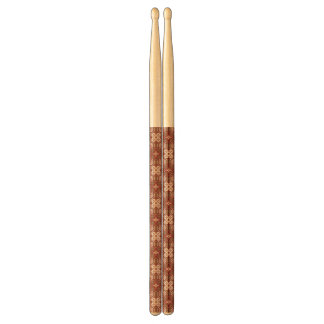 Colorful retro pattern background 4 drumsticks