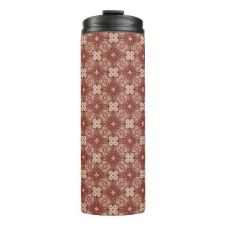 Colorful retro pattern background 4 thermal tumbler