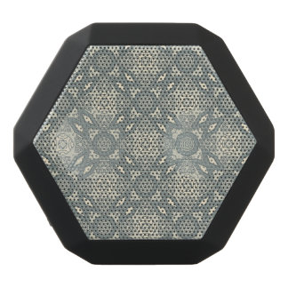 Colorful retro pattern background 5 black bluetooth speaker