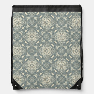 Colorful retro pattern background 5 drawstring bag