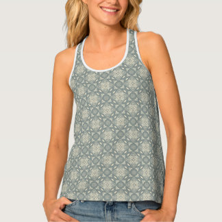 Colorful retro pattern background 5 tank top