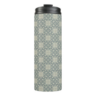 Colorful retro pattern background 5 thermal tumbler