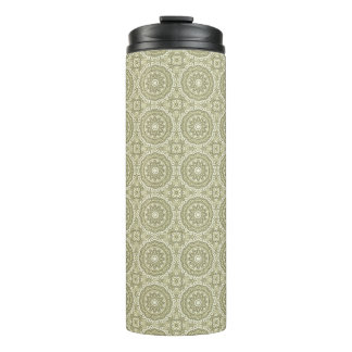 Colorful retro pattern background 6 thermal tumbler