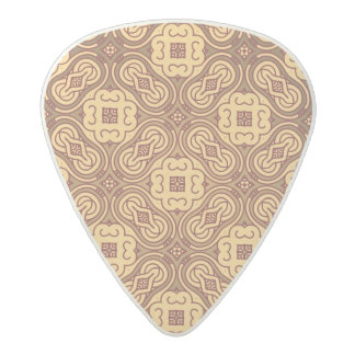 Colorful retro pattern background acetal guitar pick